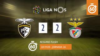 Liga NOS (26ªJ): Resumo Flash Portimonense 2-2 SL Benfica