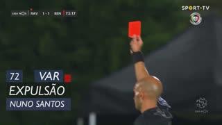 Rio Ave FC, Expulsão, Nuno Santos aos 72'