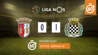 I Liga (26ªJ): Resumo Flash SC Braga 0-1 Boavista FC