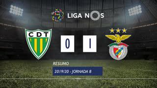 Liga NOS (8ªJ): Resumo CD Tondela 0-1 SL Benfica