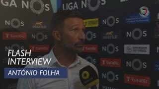 Liga (5ª): Flash Interview António Folha