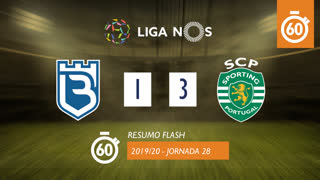 Liga NOS (28ªJ): Resumo Flash Belenenses 1-3 Sporting CP