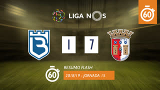 Liga NOS (15ªJ): Resumo Flash Belenenses SAD 1-7 SC Braga