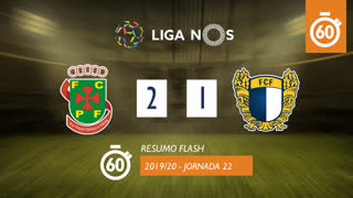 Liga NOS (22ªJ): Resumo Flash FC P.Ferreira 2-1 FC Famalicão