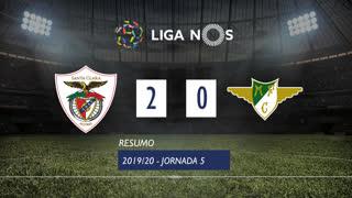 Liga NOS (5ªJ): Resumo Santa Clara 2-0 Moreirense FC