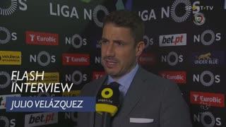 Liga (24ª): Flash Interview Julio Velázquez
