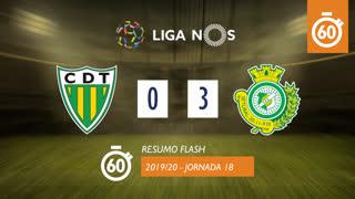 Liga NOS (18ªJ): Resumo Flash CD Tondela 0-3 Vitória FC