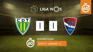 I Liga (15ªJ): Resumo Flash CD Tondela 1-1 Gil Vicente FC