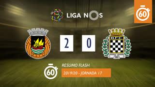 Liga NOS (17ªJ): Resumo Flash Rio Ave FC 2-0 Boavista FC