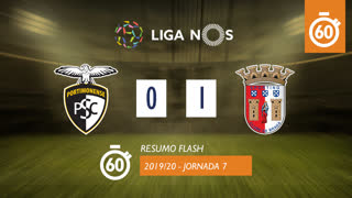 Liga NOS (7ªJ): Resumo Flash Portimonense 0-1 SC Braga