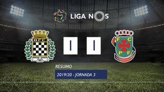 Liga NOS (3ªJ): Resumo Boavista FC 1-1 FC P.Ferreira
