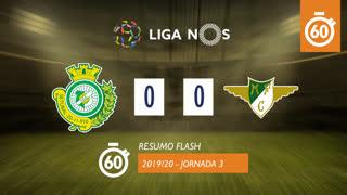 Liga NOS (3ªJ): Resumo Flash Vitória FC 0-0 Moreirense FC