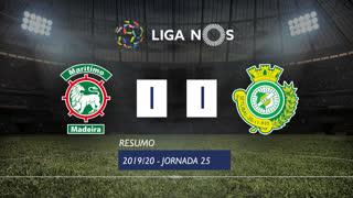 Liga NOS (25ªJ): Resumo Marítimo M. 1-1 Vitória FC