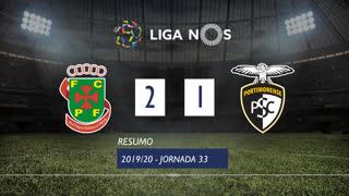 Liga NOS (33ªJ): Resumo FC P.Ferreira 2-1 Portimonense