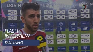 Liga (17ª): Flash Interview Paulinho