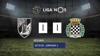 Liga NOS (2ªJ): Resumo Vitória SC 1-1 Boavista FC