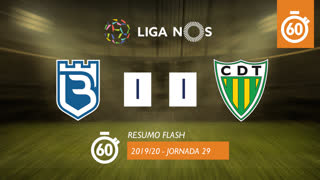 Liga NOS (29ªJ): Resumo Flash Belenenses 1-1 CD Tondela