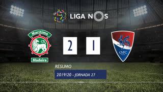 Liga NOS (27ªJ): Resumo Marítimo M. 2-1 Gil Vicente FC