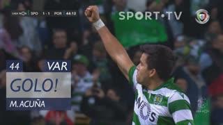GOLO! Sporting CP, M. Acuña aos 44', Sporting CP 1-1 FC Porto