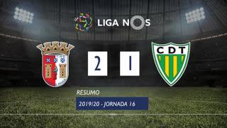 Liga NOS (16ªJ): Resumo SC Braga 2-1 CD Tondela