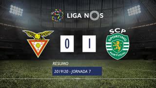 Liga NOS (7ªJ): Resumo CD Aves 0-1 Sporting CP