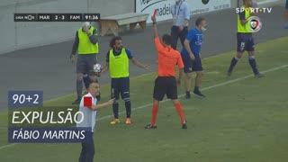 FC Famalicão, Expulsão, Fábio Martins aos 90'+2'
