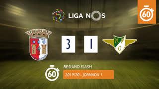 Liga NOS (1ªJ): Resumo Flash SC Braga 3-1 Moreirense FC
