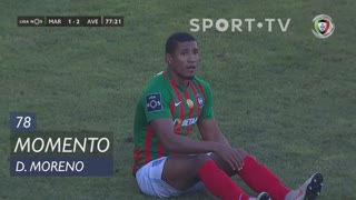 Marítimo M., Jogada, D. Moreno aos 78'
