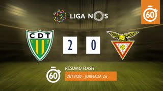 I Liga (26ªJ): Resumo Flash CD Tondela 2-0 CD Aves