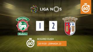 Liga NOS (23ªJ): Resumo Flash Marítimo M. 1-2 SC Braga
