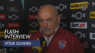 Liga (22ª): Flash Interview Vítor Oliveira