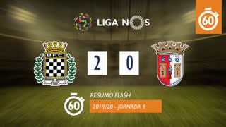 I Liga (9ªJ): Resumo Flash Boavista FC 2-0 SC Braga