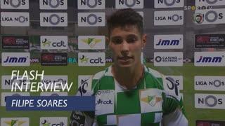 """Filipe Soares: """"Foi um ponto ganho"""""""