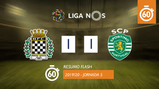 Liga NOS (5ªJ): Resumo Flash Boavista FC 1-1 Sporting CP