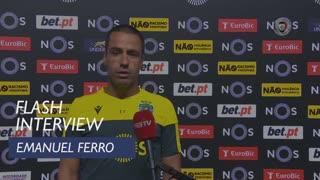 """Emanuel Ferro: """"Terminamos jogo com sensações positivas"""""""