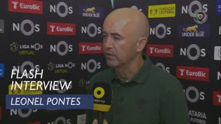 Liga (6ª): Flash Interview Leonel Pontes