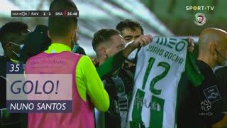 GOLO! Rio Ave FC, Nuno Santos aos 35', Rio Ave FC 2-2 SC Braga