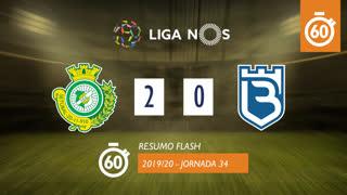 Liga NOS (34ªJ): Resumo Flash Vitória FC 2-0 Belenenses SAD