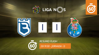 Liga NOS (13ªJ): Resumo Flash Belenenses SAD 1-1 FC Porto