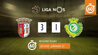 Liga NOS (22ªJ): Resumo Flash SC Braga 3-1 Vitória FC