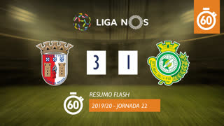 I Liga (22ªJ): Resumo Flash SC Braga 3-1 Vitória FC