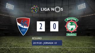 Liga NOS (10ªJ): Resumo Gil Vicente FC 2-0 Marítimo M.
