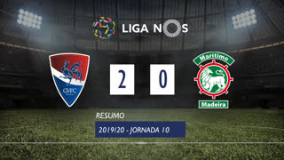 I Liga (10ªJ): Resumo Gil Vicente FC 2-0 Marítimo M.