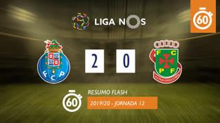 Liga NOS (12ªJ): Resumo Flash FC Porto 2-0 FC P.Ferreira