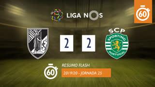 Liga NOS (25ªJ): Resumo Flash Vitória SC 2-2 Sporting CP