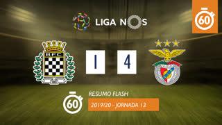 Liga NOS (13ªJ): Resumo Flash Boavista FC 1-4 SL Benfica