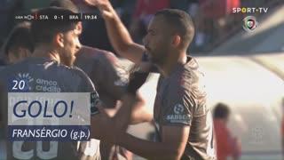 GOLO! SC Braga, Fransérgio aos 20', Santa Clara 0-1 SC Braga