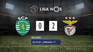 Liga NOS (17ªJ): Resumo Sporting CP 0-2 SL Benfica