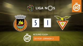 Liga NOS (3ªJ): Resumo Flash Rio Ave FC 5-1 CD Aves
