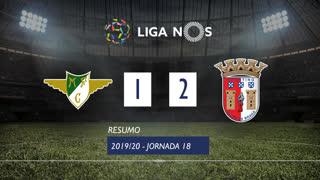 Liga NOS (18ªJ): Resumo Moreirense FC 1-2 SC Braga